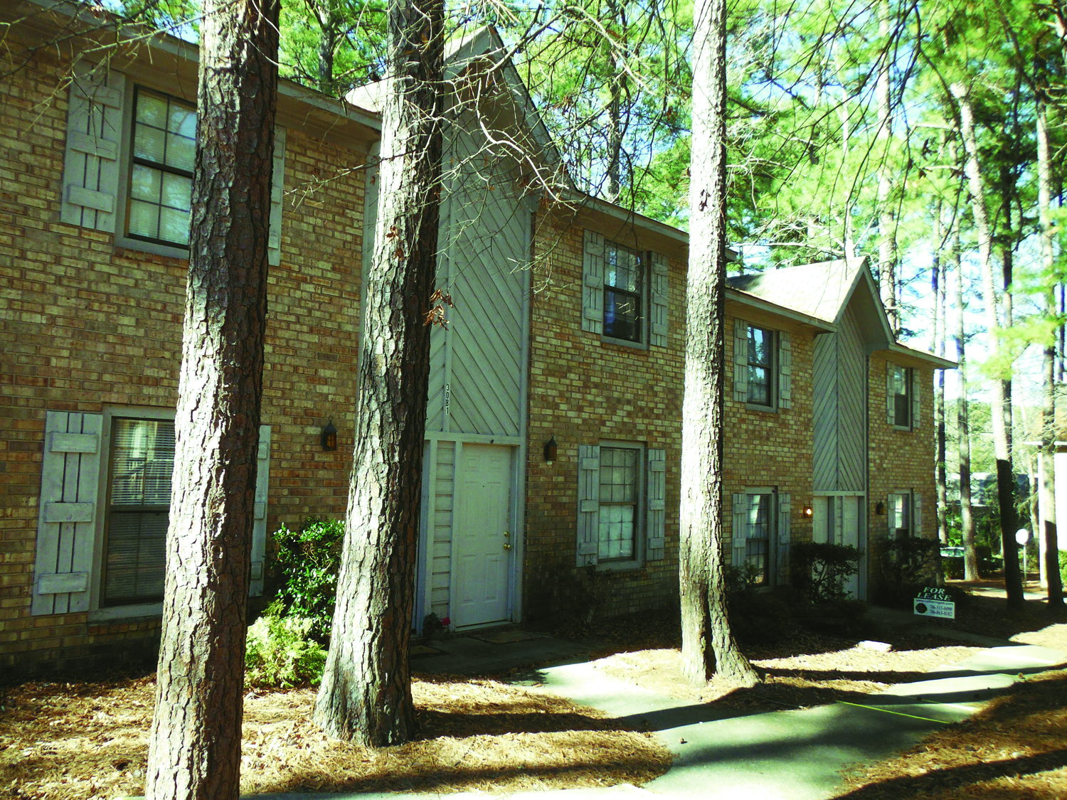Wintergreen Town Homes outside building view in Augusta, GA